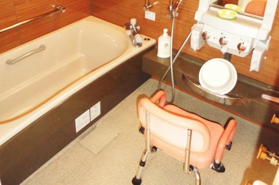 プライバシーが守られての入浴